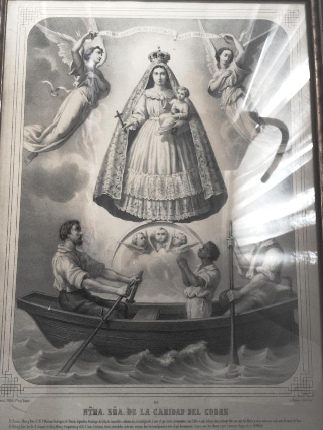 Imagen de la Virgen de la Caridad del Cobre / Ochún, patrona de Cuba, que acompañara al poeta Gastón Baquero.